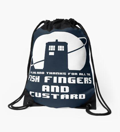 Fish Fingers and Custard Drawstring Bag