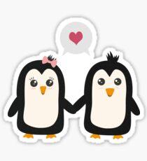 Penguins in love Sticker