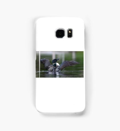 Common loon at 6am Samsung Galaxy Case/Skin