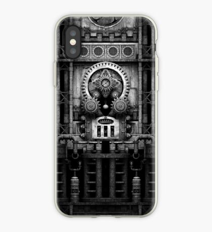 Infernal Steampunk Vintage Machine #3 Monochrome iPhone Case