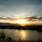 Sunrays and sunset by Susan P Watkins