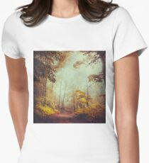 silent forest Womens Fitted T-Shirt