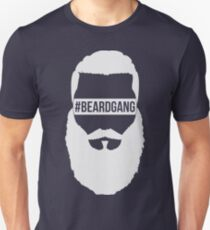 #BeardGang Full Beard (White) Unisex T-Shirt