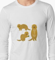 Squirrels with an Acorn Long Sleeve T-Shirt