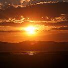 Sunset at Bear river bird refuge by Susan P Watkins