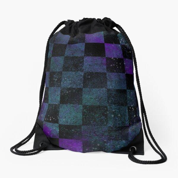 Galaxy Checkerboard Drawstring Bag