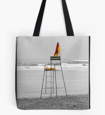 Life savers chair on Gonubie beach Tote Bag