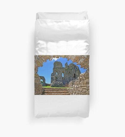 Ogmore Castle, a 12th century Norman Castle in Wales Duvet Cover