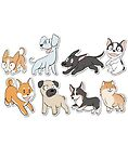 8 Happy Dog Stickers by Mel Albino