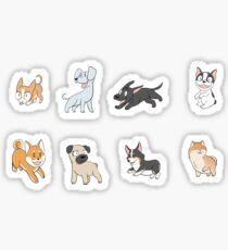 8 Happy Dog Stickers Sticker