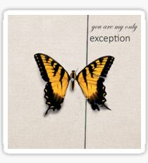 Paramore Only Exception Sticker