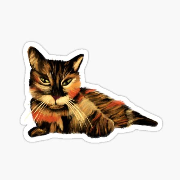 Painted Tortie Cat Sticker