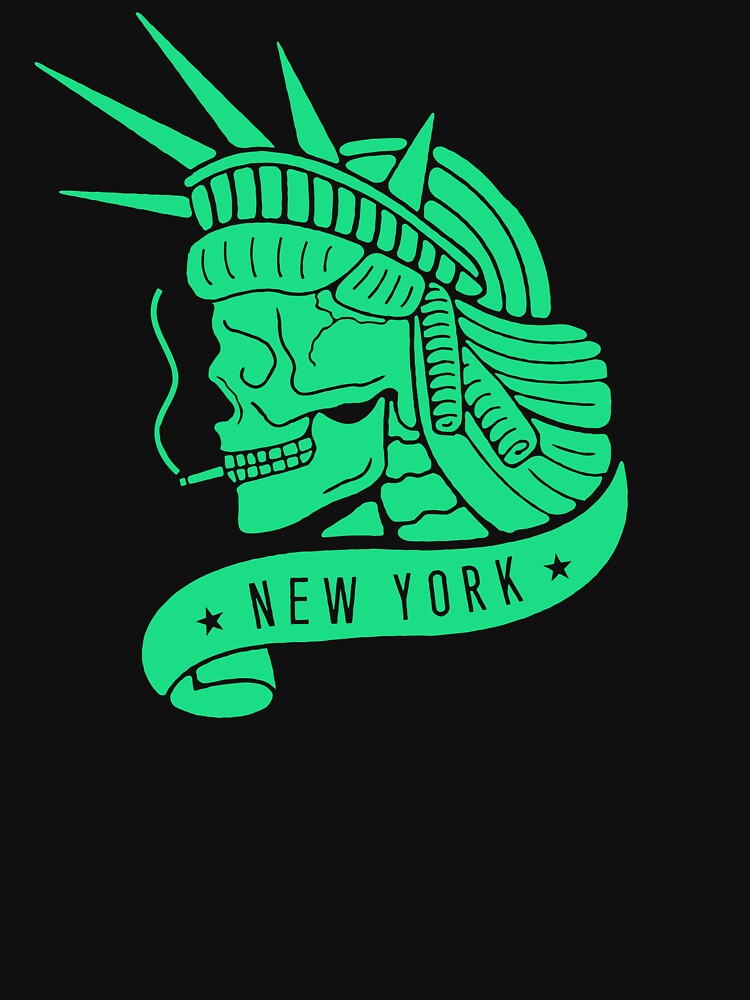 New York - Statue of Libery Skull (no background) by JamesShannon