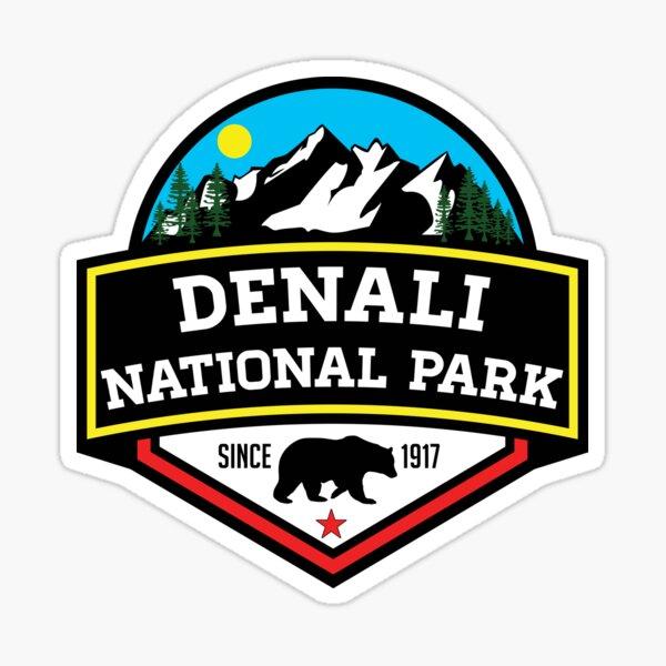 DENALI NATIONAL PARK ALASKA MOUNTAINS HIKE HIKING CAMP CAMPING Sticker