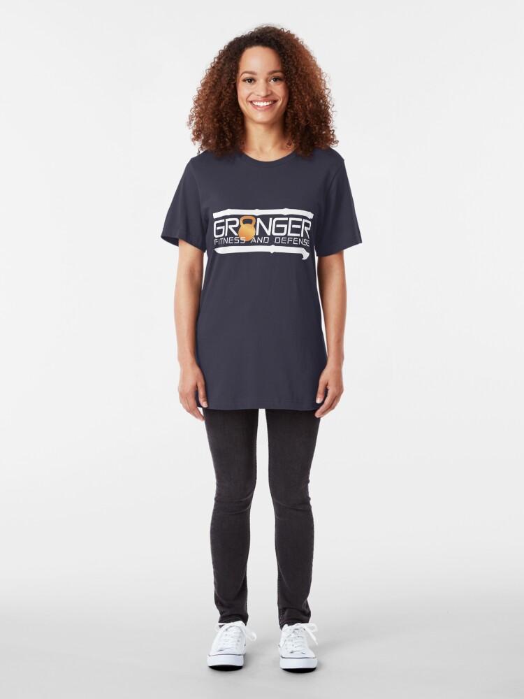 Alternate view of Classic Full Logo for Granger Fitness and Defense  Slim Fit T-Shirt