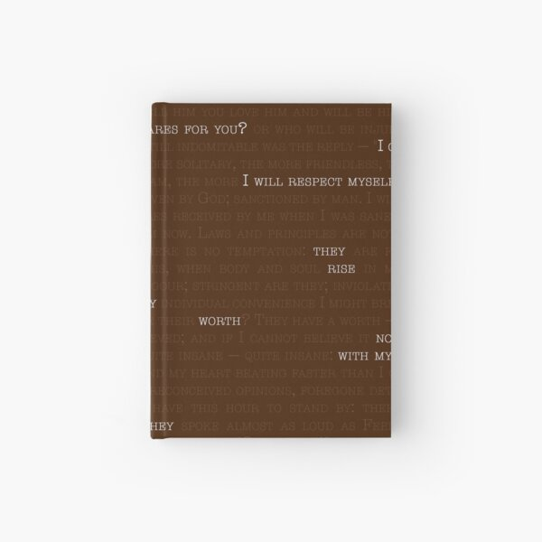 """I Care For Myself -- from Charlotte Brontë's """"Jane Eyre"""" Hardcover Journal"""