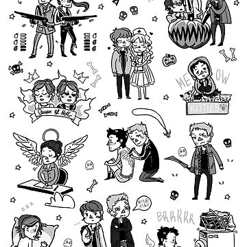 Supernatural Chibis 2 by HizaChu