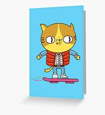 Meowrty CatFly Greeting Card