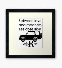 Calvin Klein & Land Rover (Parody) Framed Print