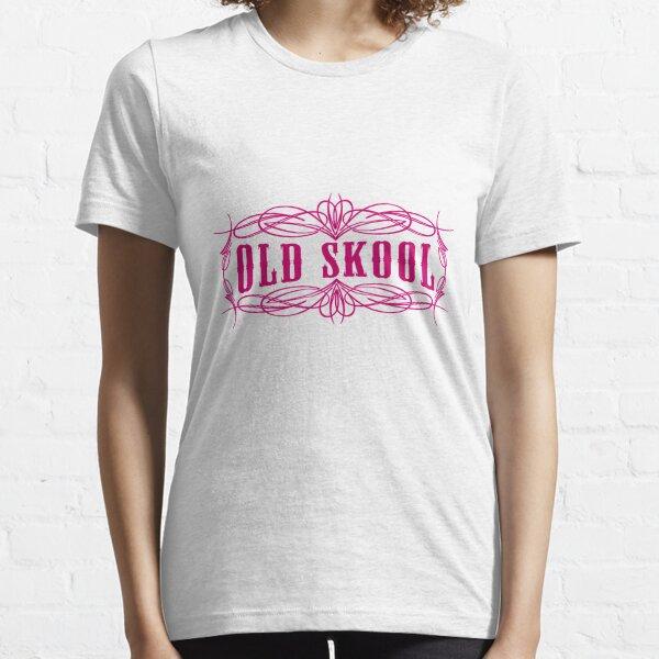Old Skool Pinstripe Design in pink Essential T-Shirt