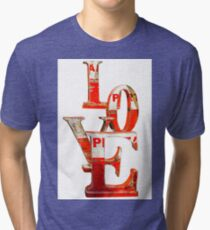 LOVE Happy Valentines day card Tri-blend T-Shirt