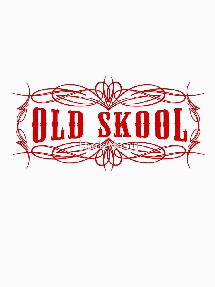 Old Skool Nadelstreifen-Design in Rot von UncleHenry