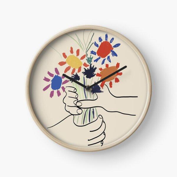 Picasso Flower 1972 Clock