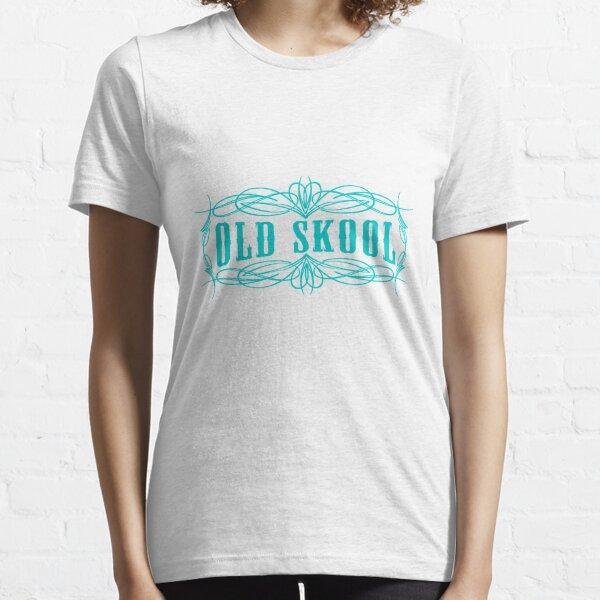 Old Skool Nadelstreifen-Design in Türkis Essential T-Shirt