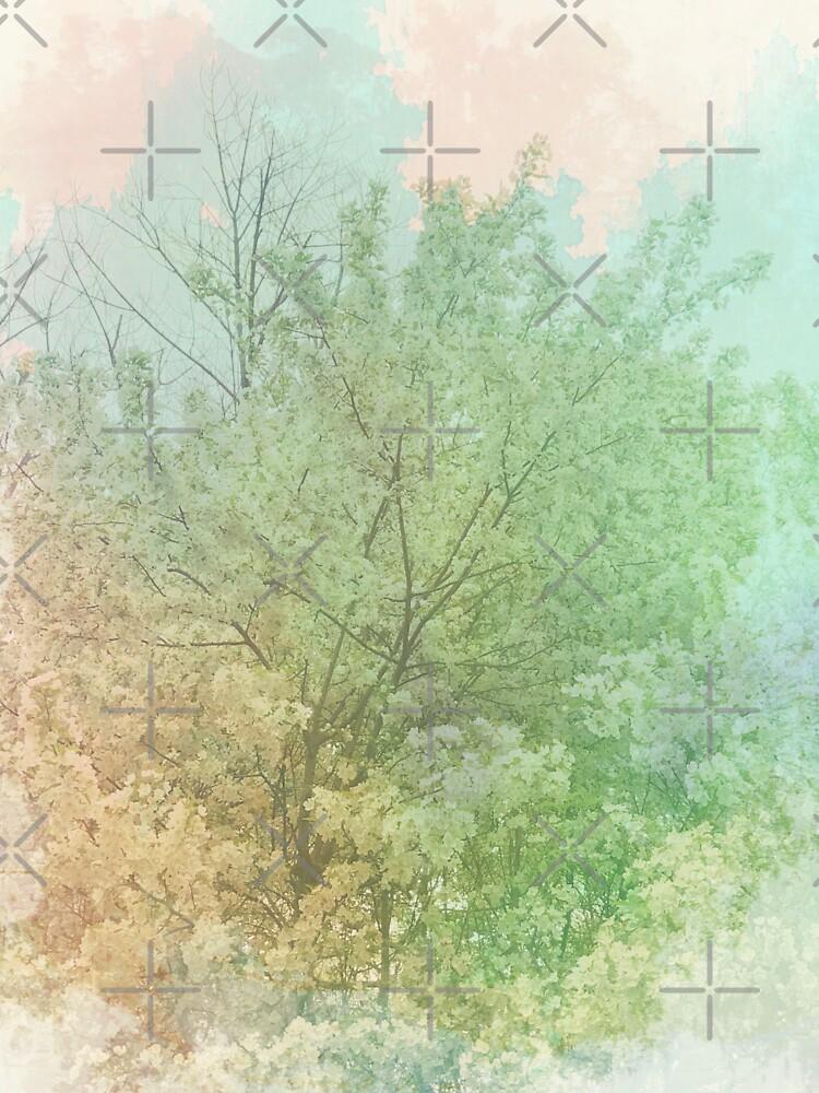 Pastel Spring - Dreamy Crab Apple Tree  by OneDayArt