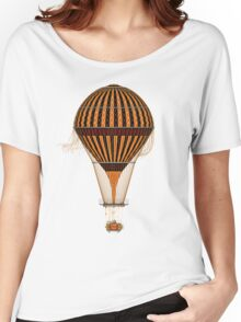 Elegant Steampunk Vintage Hot Air Balloon Women's Relaxed Fit T-Shirt