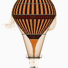Elegant Steampunk Vintage Hot Air Balloon Steampunk T-Shirts by Steve Crompton