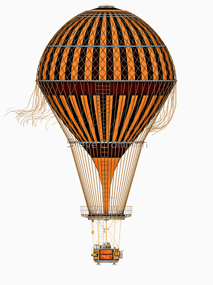 Elegant Steampunk Vintage Hot Air Balloon Steampunk T-Shirts by SC001