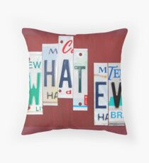 me peterson designs - what · ev | what evs | what ever Throw Pillow