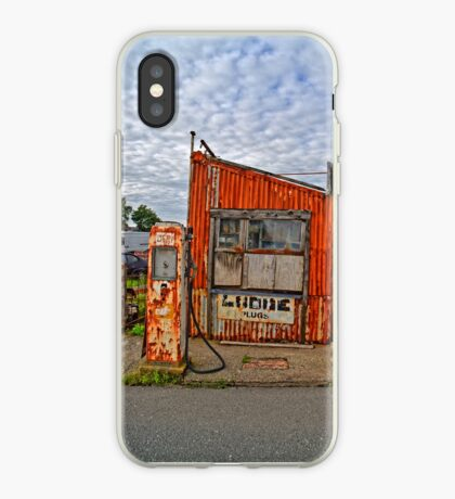Abandoned Old Petrol Filling Station, Wales iPhone Case