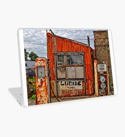 Abandoned Old Petrol Filling Station, Wales Laptop Skin