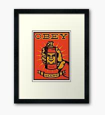 Obey Giant Framed Print