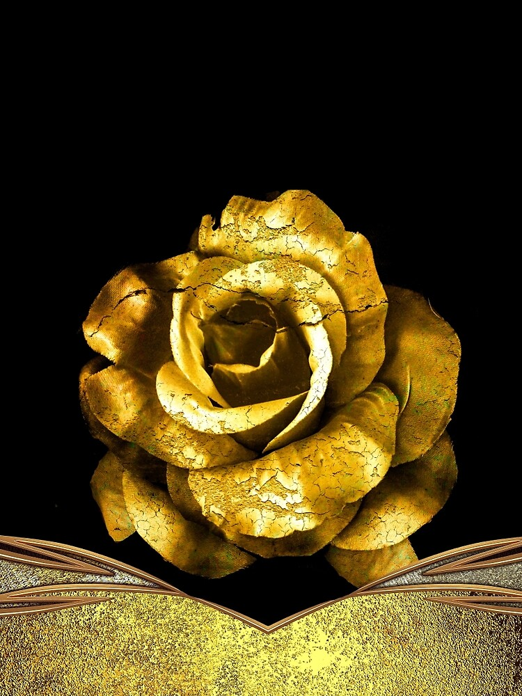 Antique Gold Rose by lisahayden