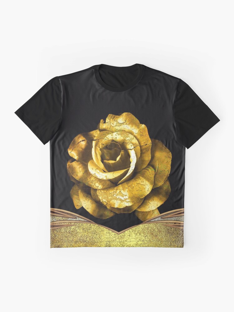 Alternate view of Antique Gold Rose Graphic T-Shirt