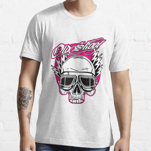 Old Skool Skull Design in Pink von Onkel Henrys Essential T-Shirt