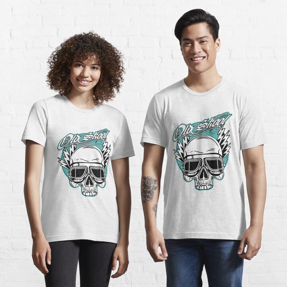 Old Skool Skull Design in Türkis Essential T-Shirt