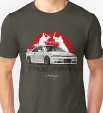 Camiseta unisex Skyline GTR R33 (blanco)