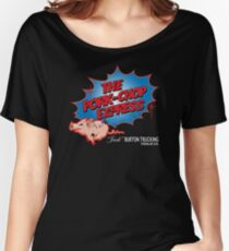 Pork Chop Express - Distressed Extreme Blue Variant Women's Relaxed Fit T-Shirt