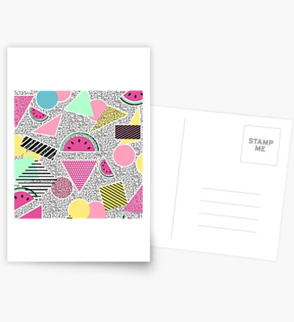Modern geometric pattern Memphis patterns inspired Carte de vœux