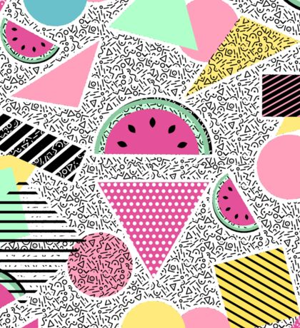 Modern geometric pattern Memphis patterns inspired Sticker