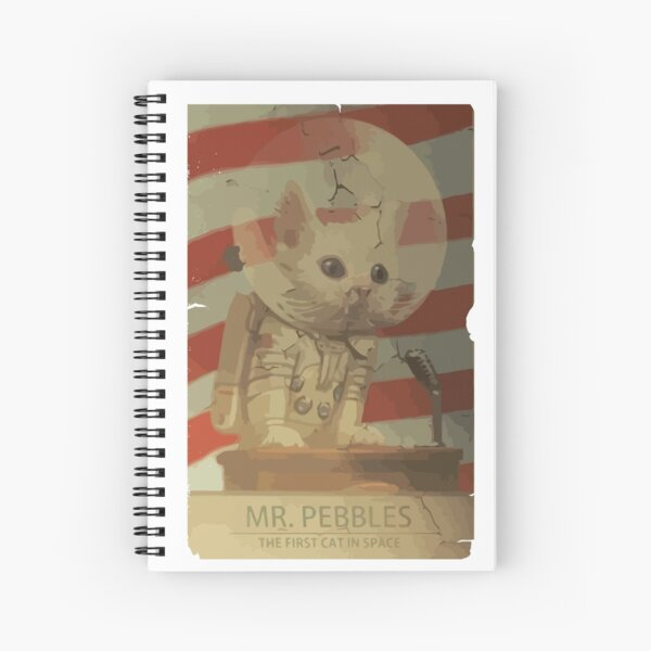 Mr. Pebbles - The first cat in space Spiral Notebook
