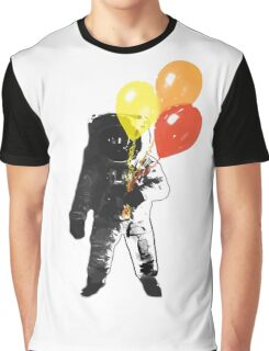 Spaceman with Balloons. Graphic T-Shirt