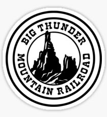 HeroThunderMountainWhite Sticker