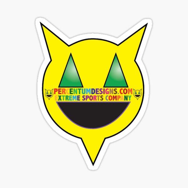 PERCENTUM DESIGNS LOGO WITH TEXT Sticker