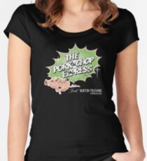 Pork Chop Express - Distressed Lime Variant Women's Fitted Scoop T-Shirt