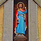 Christian figure of a Saint at a 14th century church in England by Remo Kurka